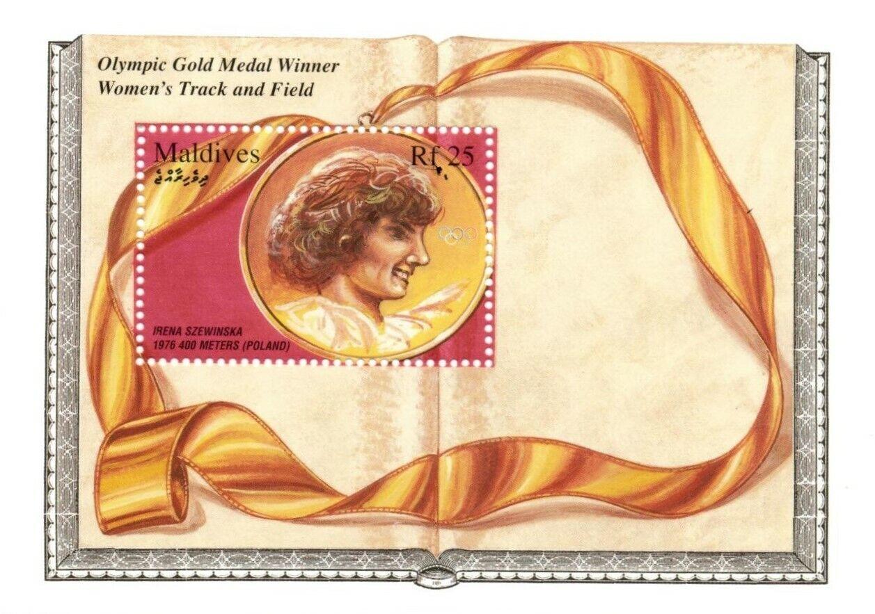 VINTAGE CLASSICS - Maldives 2154 - Irena Szewinska Gold Medal Winner - S/S - MNH - $0.89