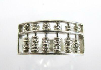 925 STERLING SILVER MOVEABLE ABACUS RING SIZE 4.5 RT0