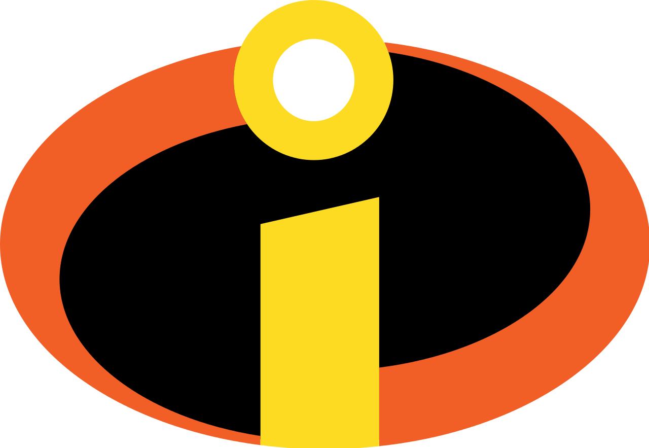 Incredibles Logo Iron On Transfer Light or Dark Fabrics 5 x
