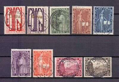 BELGIUM 1928 FIRST ORVAL SET FINE USED 258/66
