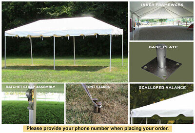 15x20 White Vinyl Classic Frame Tent for Wedding Outdoors Ev