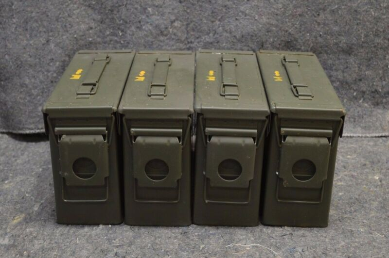 AMMO CAN ( 6 PACK)ONCE USED MILITARY 7.62 / 30 Cal M19A1 ** FREE SHIPPING**