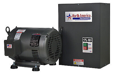 Pl-10 Pro-line 10hp Rotary Phase Converter - Built-in Starter Made In Usa