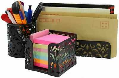 Easypag Metal 3 In 1 Desk Organizer Set - Letter Sorter Pen Holder And Sticky N
