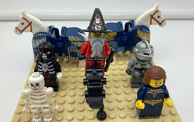 LEGO CASTLE MINIFIG LOT- Knights, Wizards, Horses, Princess, Skeletons