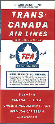 Trans Canada Air Lines System Timetable 3 1 59  7031