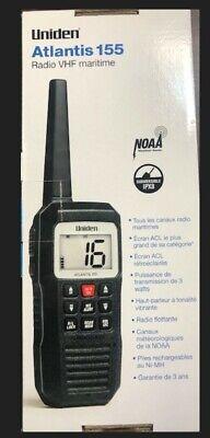 Uniden Atlantis 155 Handheld VHF Marine Radio Big screen compact size Brand New