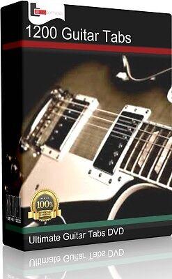 1200+ Tablature Tabs 60s 70s 80s 90s Rock Pop Guitar Song DVD CD Book Software