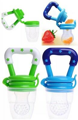 2 Lot Baby Food Feeder Teething Bottle Pacifier Baby Toddler Silicone Teether