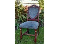 Four matching vintage dining chairs. Great for xmas guests?