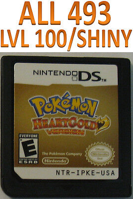 Pokemon HeartGold All 493 Event Shiny DS DSi 2DS 3DS XL Game Unlocked Tyranitar