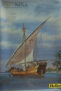 Heller 1/75 Nina Sailing Ship (Columbus Voyage) French Made New