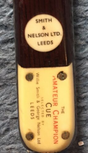 Smith and Nelson Ltd Leeds The Amateur Champion Cue Machine Made