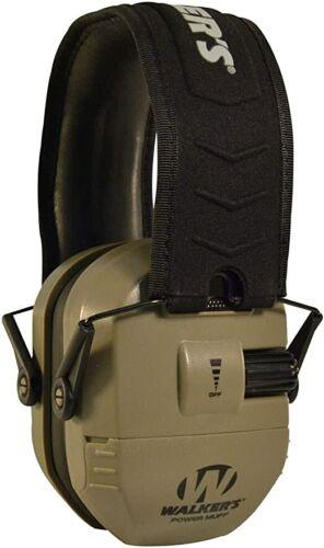 Walkers Power Muff Ear Protection 26db Flat Dark Earth GWP-XPMQ