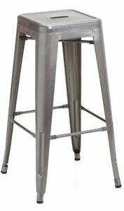 RESTAURANT INDUSTRIAL TOLIX STYLE METAL DINING CHAIR BAR STOOL