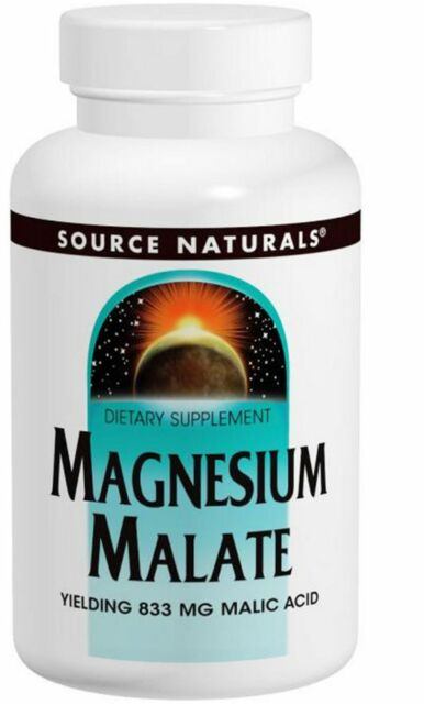 NEW SOURCE NATURALS MAGNESIUM MALATE ATP SYNTHESIS ENERGY PRODUCTION 180 TABLETS