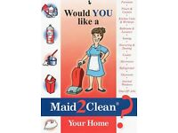 Would you like a Maid2Clean your Home? Free Up Your Time For Things That Really Matter To You!