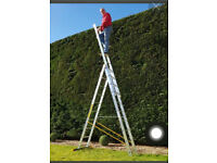 Treble 12 combination ladder by BPS 7.1m