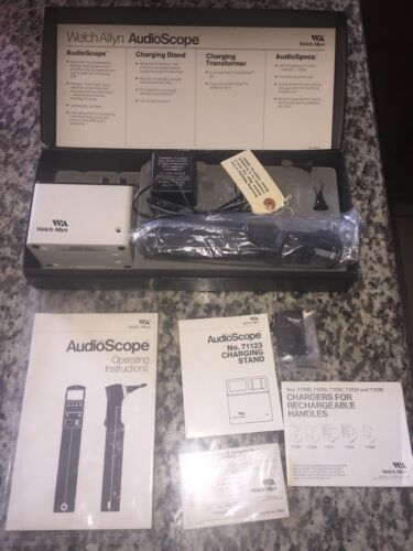 NEW Welch Allyn Audioscope Portable Screening Audiometer with Charger & Tips