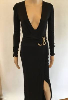 ROBERTO CAVALLI SEXY PLUNGING EMBELLISHED GOWN SZ 38 CURRENT IN (Roberto Cavalli Stores)