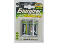 BNIP ENERGIZER 2500 mAh NiMH ACCU RECHARGEABLE C BATTERY 1 Pack HEAVY & FREQUENT