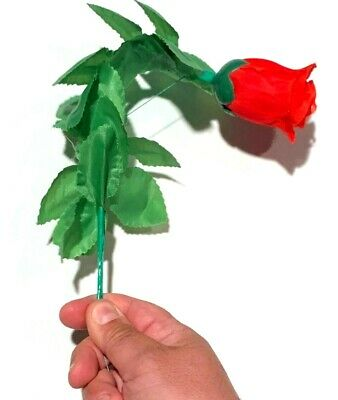 Deluxe DROOPING ROSE Cloth Flower Clown Gag Wilting Comedy Magic Trick Joke Fall - Wilting Flower