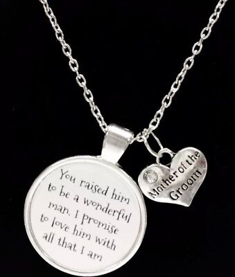 Mother Of The Groom Necklace Wedding Bridal Gift Mother's Day Jewelry](Mother Of Groom Gift)
