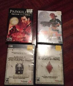 Four Vintage PC Games shooters lots complete new