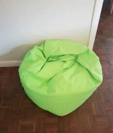 Lime green beanbag