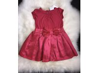 Next Party Dress BNWT Coral 6-9 Months