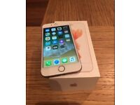 Apple iPhone 6s rose gold 128gb UNLOCKED excellent condition