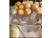 Medela swing breast pump double with all accessories