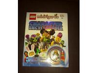 Lego figure character book with mini figure
