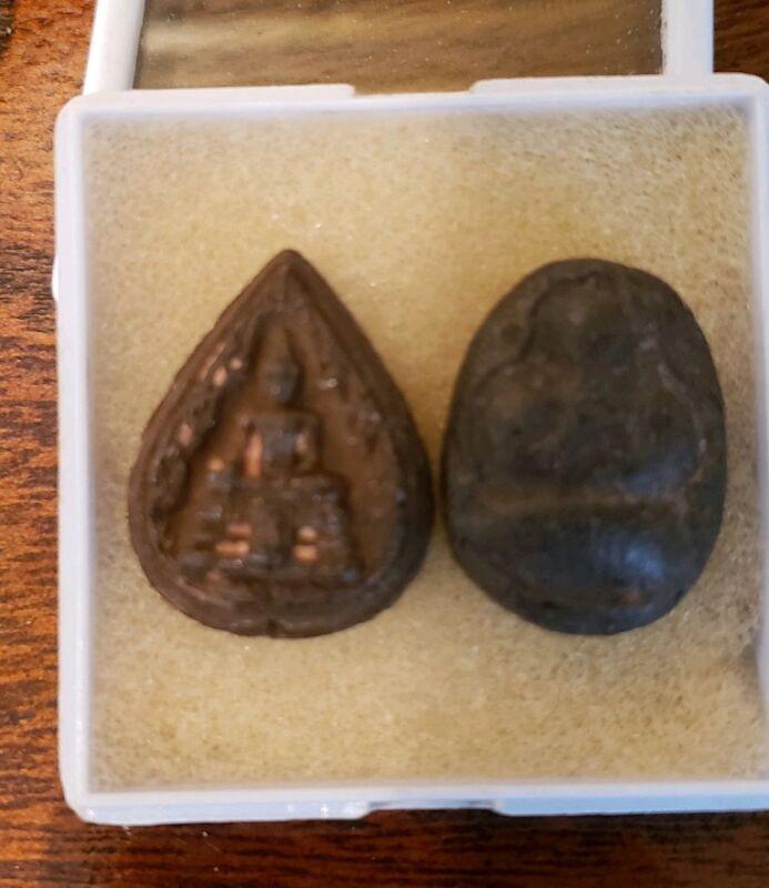 2 THAI BUDDHIST TEMPLE AMULETS