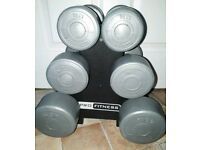 Pro Fitness Weights Set With Stand