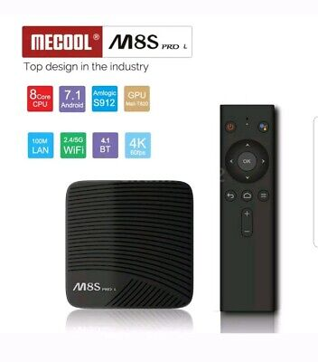 MECOOL M8S PRO L ATV Smart Android TV 7.1 TV Box w/ 2.4G Voice IR Remote H0E7 for sale  Lee's Summit