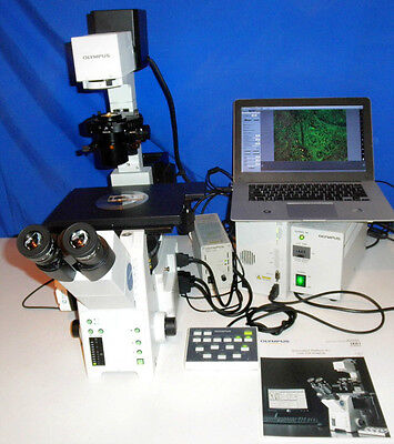 Olympus Ix81 Microscope Inverted Fluorescence Automated Live Cell Microscope 2
