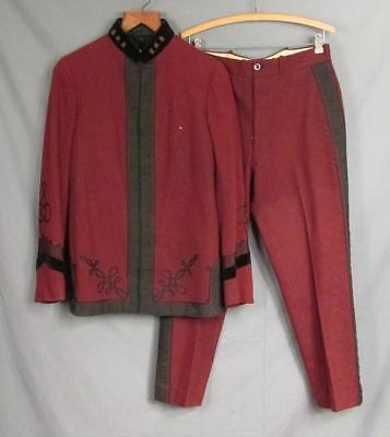 Vintage 1930s Marching Band GHB Wool Uniform Jacket & Buckle-Back Pants Antique