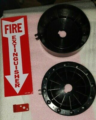 Amerex Water Fire Extinguisher Foot Stand W Hose Clip Bracket Fe Sign New
