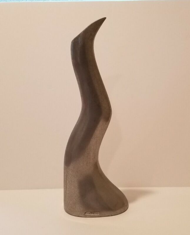 """Anna Everlund  MODERN METAL Candlestick Art Display Sculpture  12"""" tall  MCM ?"""
