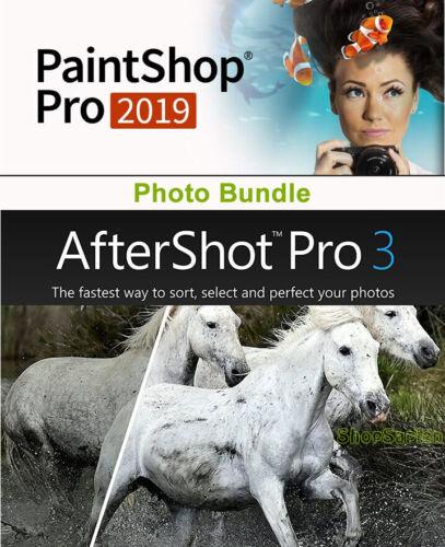 Corel PaintShop Pro 2019 & AfterShot Pro 3 - Keycard, NEW