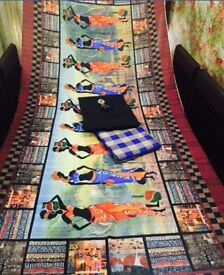 Beautiful salwar kurta set with printed dupatta.