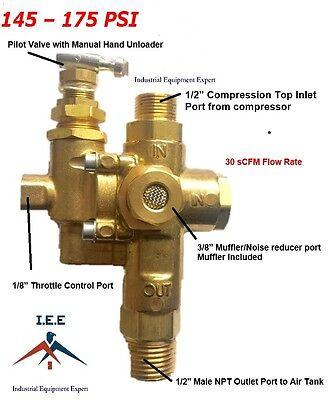 Gas Air Compressor Pilot Check Valve Unloader Valve Combo 145 - 175 Ng7