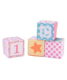 Mothercare butterfly fields soft cubes building blocks x 8