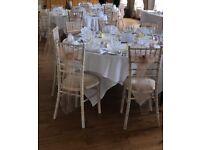 Wedding chair organza sashes