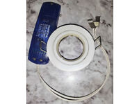 Three white downlight bezels with transformers. Postage available, need it gone.