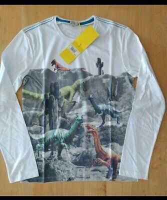 NWT Paul Smith Junior 'Dinosaur Desert' Boys LS T-Shirt Size 16a Nordstrom $75