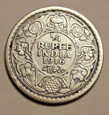 1/4 rupee GeorgeV 1916 Argent Silver  India-British