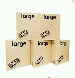 Used storage/removal boxes x5