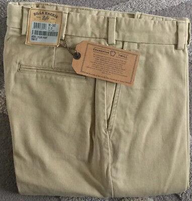 BRAND NEW-Bills khakis M2P-CHCT Size 33 PLEATED FRONT Khaki Cramerton Twill $195